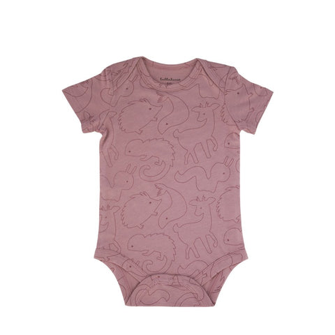 Kısa Kollu Body Animals Pink