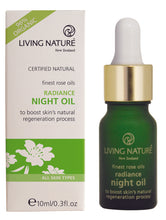 Lade das Bild in den Galerie-Viewer, Living Nature - RADIANCE NIGHT OIL: Antifaltenrosenöl 10ml