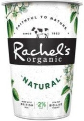 Rachels organic natural yoghurt sold through Spence halll
