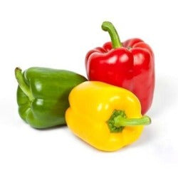 A red, yellow and green pepper, sold by Spence hall