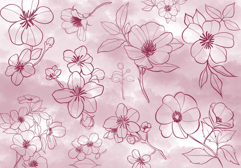 Cherry Blossom Procreate Brushes & Stamps for iPAd and iPad pro by PeonyBrush