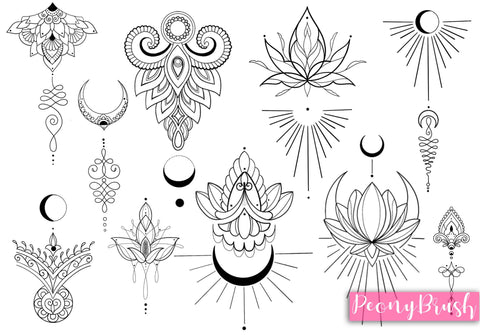 30 ornament brushes and stamps by PeonyBrush