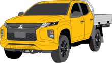 Load image into Gallery viewer, Mitsubishi Triton 2020 Double Cab -- Cab Chassis