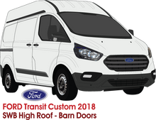 Load image into Gallery viewer, Ford Transit Custom 2018 SWB High Roof Barn Doors