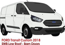 Load image into Gallery viewer, Ford Transit Custom 2018 -- SWB - Low Roof - Barn Doors