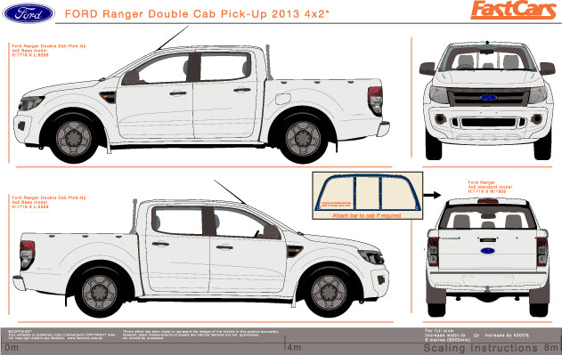 Ford Ranger 2013 Double Cab -- 4X2 Pickup ute