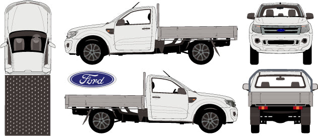 Ford Ranger 2015 Single Cab -- Cab Chassis