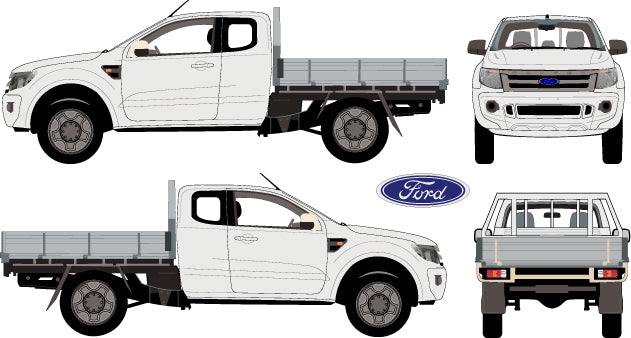 Ford Ranger 2013 Super Cab -- Cab Chassis Hi-Rider
