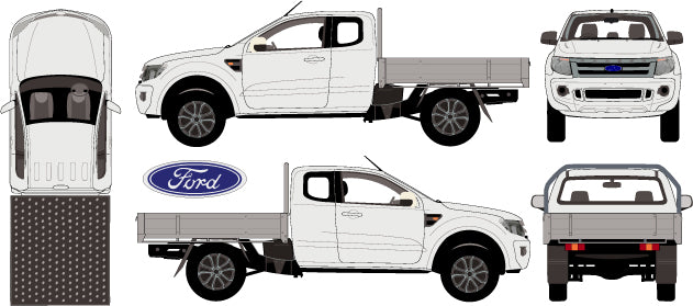 Ford Ranger 2015 Super Cab -- Cab Chassis - Hi-Rider
