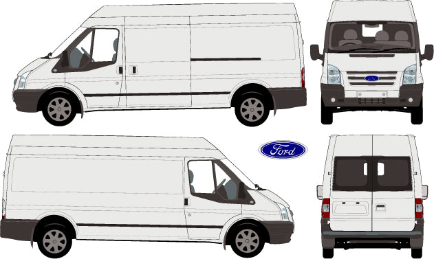 Ford Transit 2013 LWB van -- Medium Roof