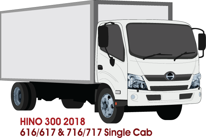 Hino 300 2018 - Single Cab - Box Rear