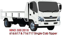 Load image into Gallery viewer, Hino 300 2018 - Single Cab - Tipper