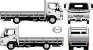 Hino 300 2010 Wide Body -- Flat-Bed Rear