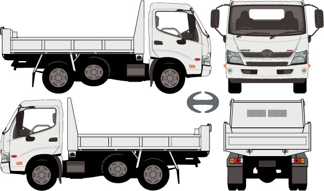 Hino 300 2013 Single Cab -- Tipper