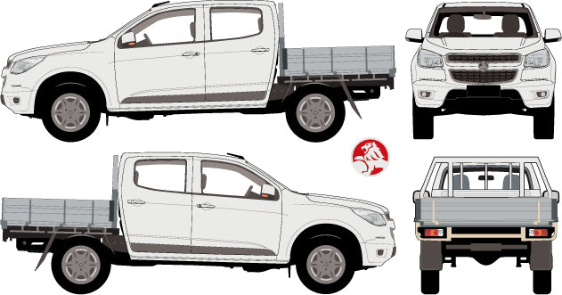 Holden Colorado 2013 Double Cab -- Cab Chassis