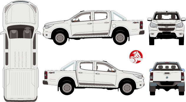 Holden Colorado 2015 Double Cab 4x4 Pickup Ute