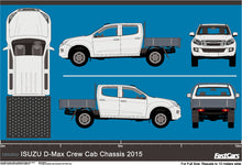 Load image into Gallery viewer, Isuzu D-Max 2015 Double Cab -- Cab Chassis