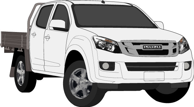 Isuzu D-Max 2017 Double Cab -- Cab Chassis