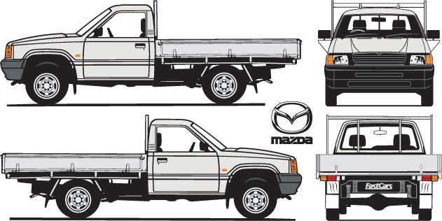 Mazda Bravo 1996  Single Cab -- Cab Chassis