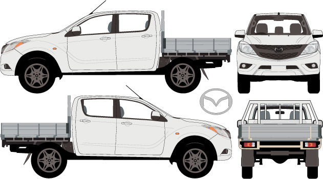 Mazda BT-50 2013 Double Cab -- Cab Chassis
