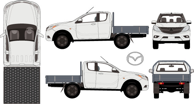 Mazda BT-50 2015 Extra Cab -- Cab Chassis