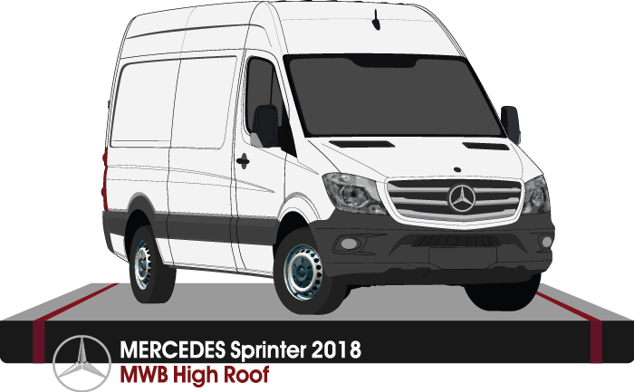 Mercedes Sprinter 2018 MWB - High Roof