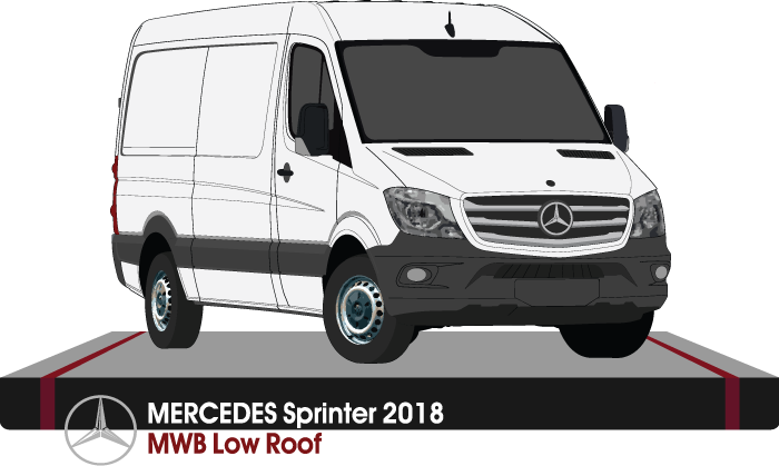 Mercedes Sprinter 2018  MWB -- Low Roof