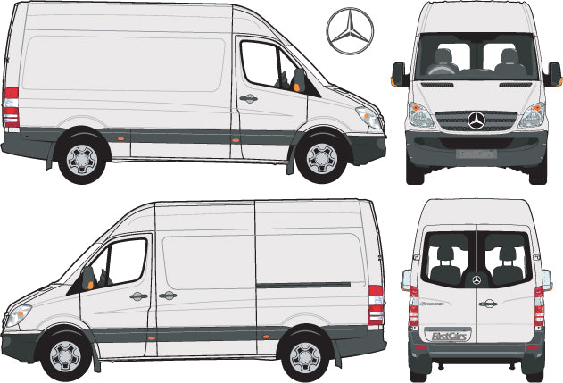 Mercedes Sprinter 2007 MWB Van -- High Roof