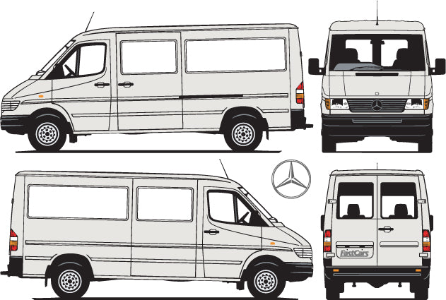 Mercedes Sprinter 2000 MWB Low Roof