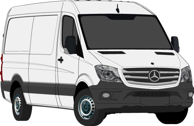 Mercedes Sprinter 2017 SWB Van -- Low Roof