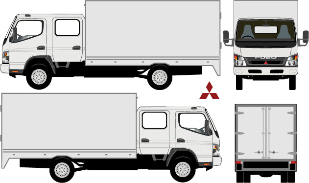 Mitsubishi Canter/Fuso 2010 Double Cab -- Box Rear