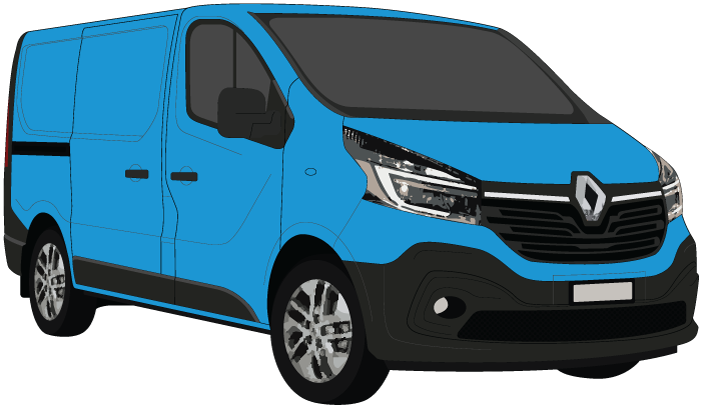 Renault Trafic 2021 LWB Black Trim Barn Doors