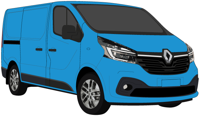 Renault Trafic 2021 SWB Colour Coded Barn Doors