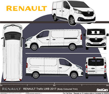 Load image into Gallery viewer, Renault Trafic 2017 LWB van -- Barn Doors -- Fully Colour Coded