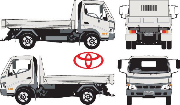 Toyota Dyna 2004  Single Cab Chassis -- Wide Body