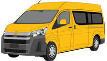 Load image into Gallery viewer, Toyota Hiace 2020 Commuter Bus - Black Bumpers