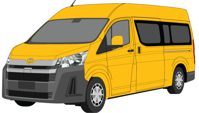 Toyota Hiace 2020 Commuter Bus - Black Bumpers