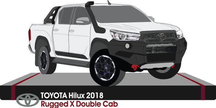 Toyota Hilux 2018 Double Cab - Pickup ute - Rugged-X