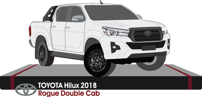 Toyota Hilux 2018 Double Cab Pickup ute - Rogue