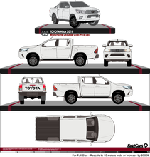 Load image into Gallery viewer, Toyota Hilux 2018 Double Cab Pickup ute - Workmate
