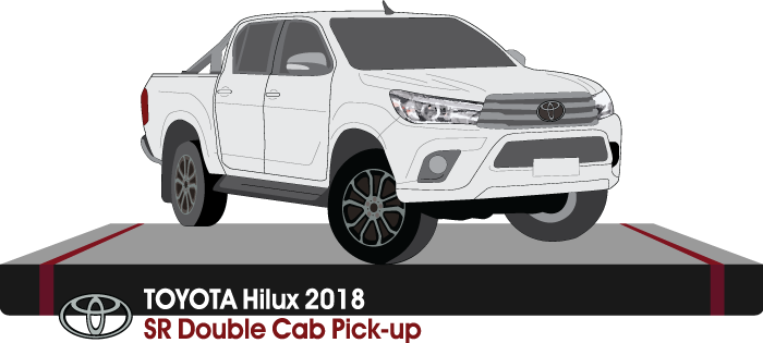 Toyota Hilux Early 2018 Double Cab Pickup ute  - SR
