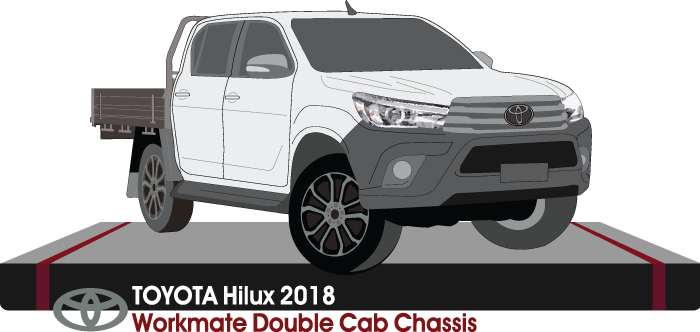 Toyota Hilux 2018 Double Cab - Cab Chassis - Workmate