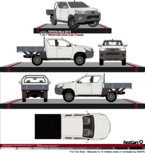 Load image into Gallery viewer, Toyota Hilux 2018 Extra Cab - Cab Chassis - Workmate