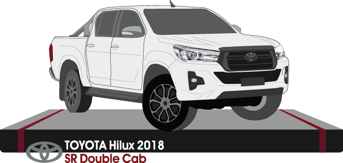 Toyota Hilux Late 2018 Double Cab Pickup ute  - SR