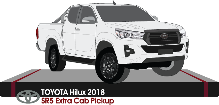 Toyota Hilux Late 2018 Extra Cab - Pickup ute  SR5