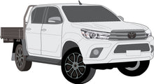 Load image into Gallery viewer, Toyota Hilux 2017 Double Cab -- Cab Chassis