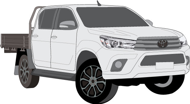 Toyota Hilux 2017 Double Cab -- Cab Chassis