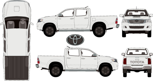 Toyota Hilux 2015 Double Cab -- SR5 Pickup Ute