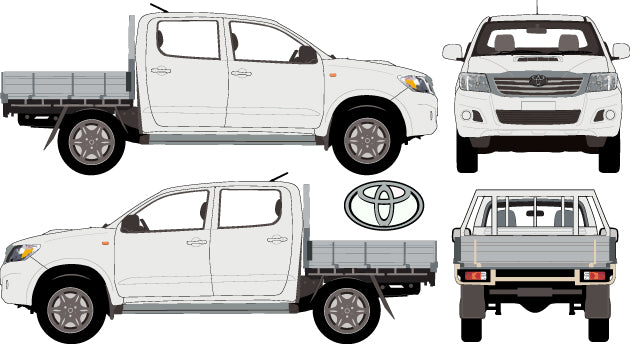 Toyota Hilux 2013 Double Cab -- SR Cab Chassis