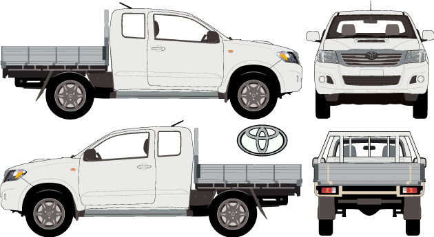 Toyota Hilux 2013 Extra Cab -- SR Cab Chassis